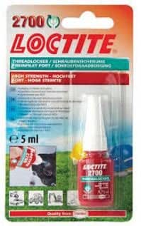 1495037 LOCTITE 2700 HEALTH & SAFETY FRIENDLY HIGH STRENGTH BLISTER 5ML BLISTER
