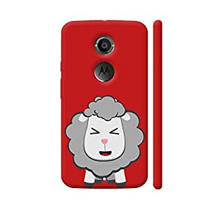 Colorpur Moto X2 Cover - Happy Kawaii Sheep Case