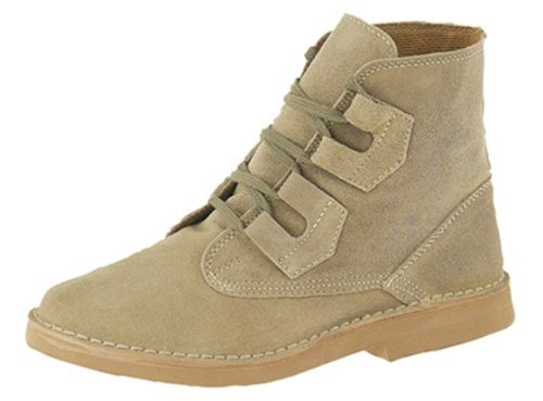 Roamers Suede Ghillie-Tie Desert Boots In Taupe. Real Suede Uppers, Lightweight Sole....