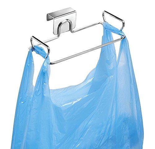 MDesign Soporte para bolsas de residuos - Como reemplazo para el cesto de basura y contenedores de reciclaje...
