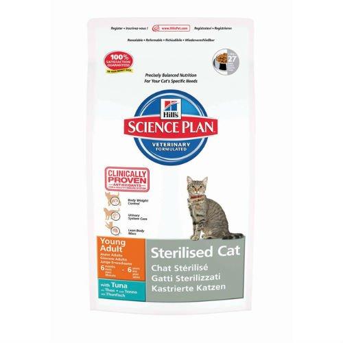 Hill 's Science Plan Katzenfutter für junge, ausgewachsene, kastrierte Katzen, Thunfisch, 1,5kg -