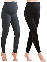 21ea127d57be00 Foucome Women's Over Bump Super Soft Support Maternity Leggings Cropped  Pants