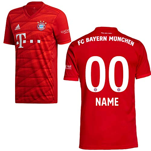 adidas FCB FC Bayern München Trikot Home Heimtrikot 2019 2020 Herren Wunschname 00 Gr L