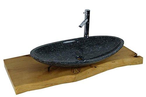 Waschbecken aus Naturstein, Granit, Model Monaco, Pearl Blue, 56x38cm -