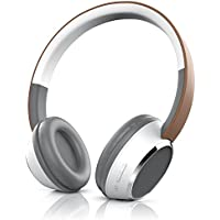 CSL - Bluetooth Kopfhörer | Wireless Headphone | On Ear Ohrhörer | Bluetooth Version 4.0 | braun / weiß