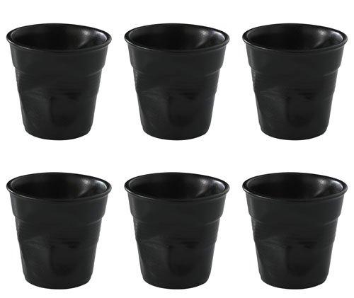 Revol froissés Tumbler Espresso Black 2.75 oz / 80ml. Quantité, boite: 6.