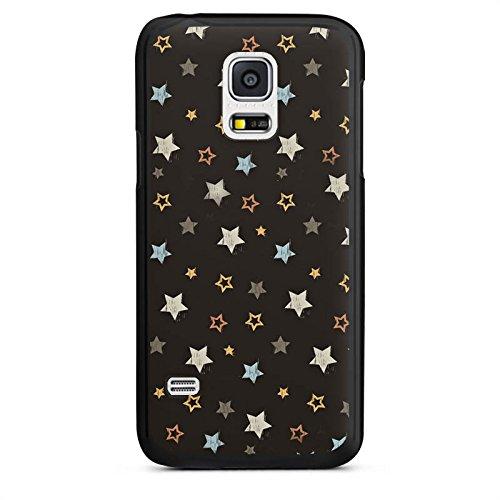 Samsung Galaxy S5 mini Hülle Schutz Case Cover Sterne Rockstar Dunkel (Mini-rock-cover)