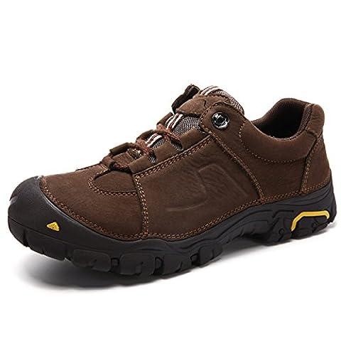 CHT Chaussures De Randonnée Pour Printemps Et Hiver Pour Hommes En Cuir,Brown-44