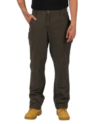 Key Premium Canvas Arbeitshosen - Braun Hose für die Arbeit Männer KP.453.27-W46-L32 (Für Männer Key-jeans)