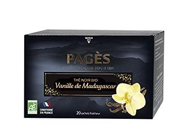 PAGÈS Thé Noir Grenade Framboise Bio 20 Sachets - Lot de 4