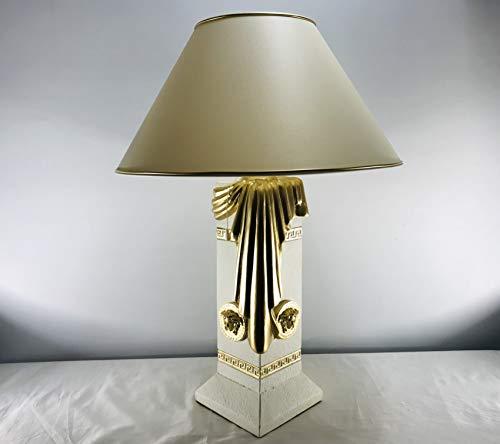 Deko-König Medusa Stehlampe mit Dublone Cremeweiß/Gold 6890 141