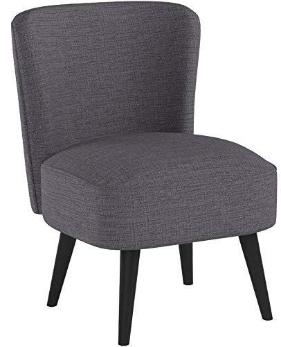 B.U.S. Wohnstyle Sessel Stuhl Loungesessel dunkel grau WS443 1