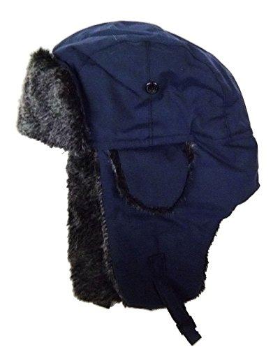 modestone-warm-trapper-bomber-hat-faux-fur-trim-o-s-blue