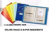 Porta carta d'identità color in pvc liscio resistente