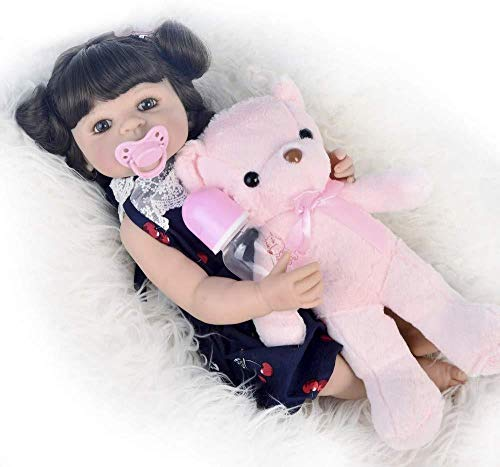 DMPQG Silikon Baby Puppen Baby Puppe Mädchen Jungen Spielzeug Weiche Simulation Silikon Vinyl Reborn Babys Für Kind Geburtstag
