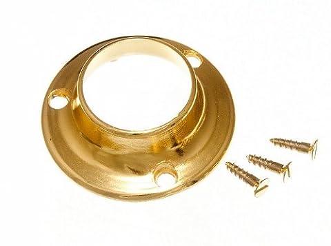 Garderobenstange Hutschienenfuß Ende Halterung 25mm vermessingt (4er Pack)