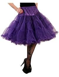 Hell Bunny Petticoat SWING LONG purple/purple