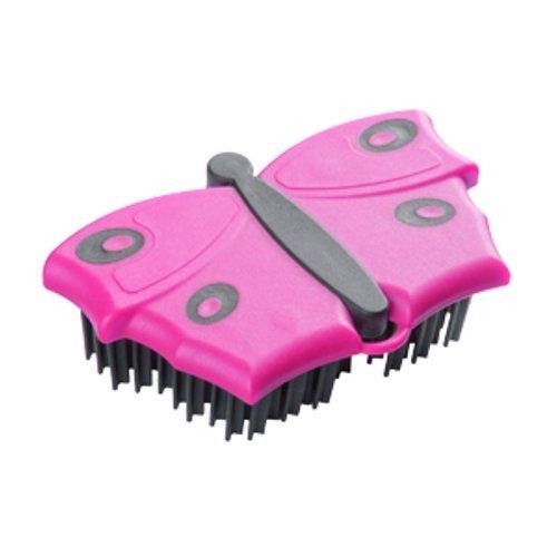 selbürste, Kleider-Bürste, Polster-Bürste, mit V-förmigen Borsten, zum Entfernen von Tier, im Schmetterlings-Look, pink (Tier Kleider)