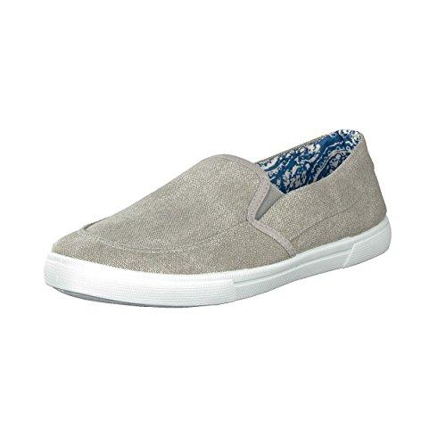 BRANDSSELLER Herren Schuhe Slipper Sneaker - Uni - Größen: 40-46 - Farben: Hellgrau, Taupe
