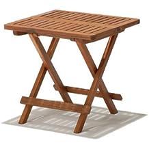 Klapptisch YORK Akazie Holz Beistelltisch 50 x 50 cm Balkontisch Gartentisch NEU