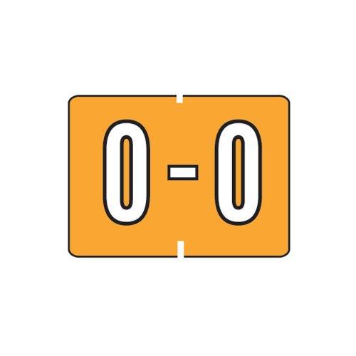 Smead A-Z color-coded etiquetas, o, luz naranja, 252etiquetas por paquete (22036)