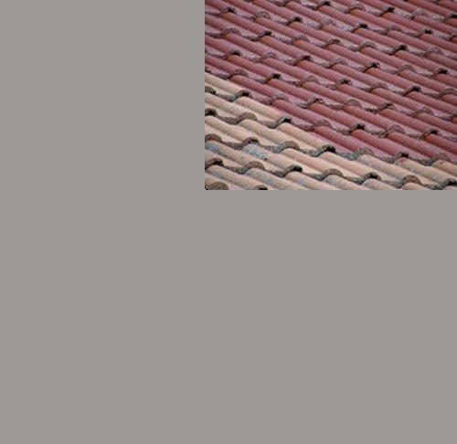 1L Ziegelfarbe Dachfarbe Dachbeschichtung Dachversiegelung in Platingrau Dachrenovierung Metalldach Blechdach Flachdach Farbe Beschichtung Anstrich Ziegel Dach