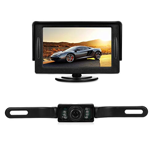 EbuyChX 4.3 inch LCD Display Car Rear View Monitor with 170 Degree IR Reversin Black