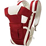HOLME'S 4 In1 Adjustable Baby Carrier Bag/Baby Carrier/Baby Shoulder Carrier/Baby Strap Carrier/Child Safety Belt/Infant Carrier Bag/Baby Holder with Head Support and Buckle Straps (Cherry Red)