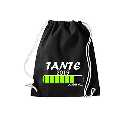 Shirtstyles Gym Sack Turnbeutel Loading Tante 2019 Schwarz