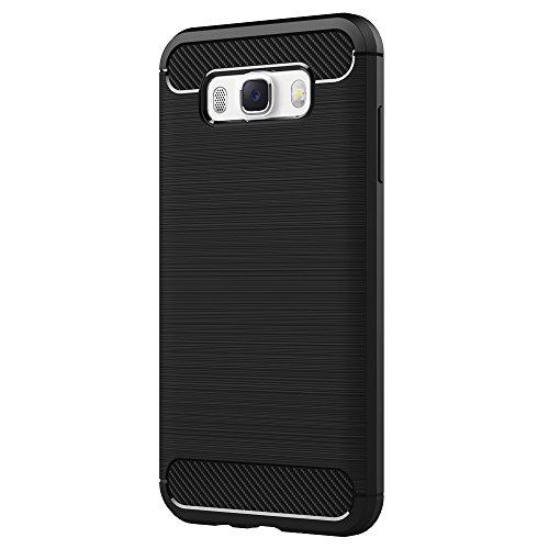 Cover Samsung Galaxy J5 2016, AICEK Nero Custodia Galaxy J5 2016 Silicone Molle Black Cover per Samsung Galaxy J5 2016 J510 5.2 Pollici Soft TPU Case