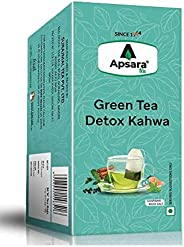 Apsara Tea Kahwa Green Detox Tea | Immunity Boosting Properties | Antioxidants Properties | 36 Tea Bag