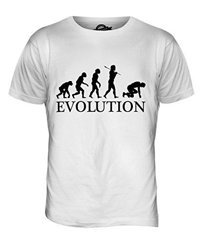 CandyMix Sprinter Sprint Läufer Evolution Des Menschen Herren T Shirt Weiß