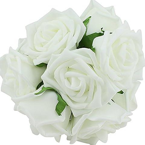 Beauty Bridal Bouquet Rose Flower Party Wedding Bridesmaid Decoration White