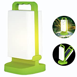 A-SZCXTOP Outdoor/Indoor Solar LED Light Rechargeable Table Lamp with Handle for Camping Outage Led Table Cube Night Light Home Decorative LED Light (Green)
