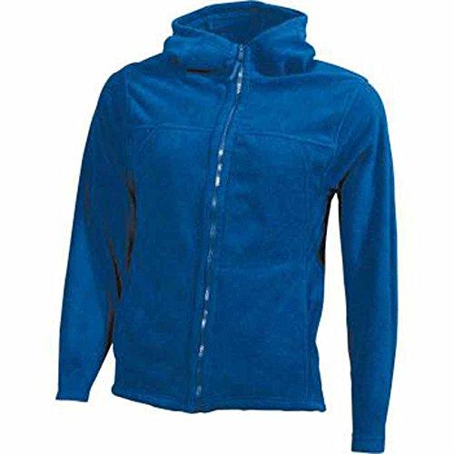 JAMES&NICHOLSON - veste gilet polaire à capuche- JN146 - FEMME Bleu roi
