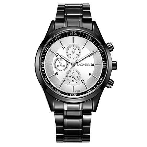 TWISFER Herren Uhr Männer Wasserdicht Chronographen Edelstahlarmband Großes Armbanduhr Mann Business Sport Mode Designer Analog Leuchtende Uhren