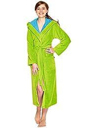 WEWO Fashion Damen Bademantel / Kimono mit Kapuze # 4046