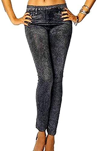 Inception pro infinite (nero leggings donna - effetto jeans - semplice - pantacollant - taglia unica - aderente - elasticizzato - idea regalo -
