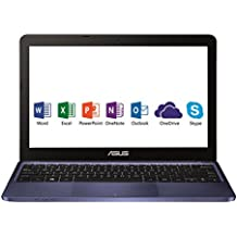"Asus E200HA-FD0079TS PC portable 11.6"" Bleu (Intel Atom, 4 Go de RAM, SSD 32 Go, Windows 10, Garantie 2 ans) + Office 365 Personnel inclus pendant 1 an"