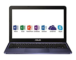 "[Ancien Modèle] Asus E200HA-FD0079TS PC Portable 11.6"" Bleu (Intel Atom, 4 Go de RAM, SSD 32 Go, Windows 10) + Office 365 Personnel inclus pendant 1 an"