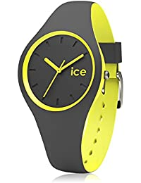 ICE-Watch - Duo - Anthracite yellow - Small 1556 - Montre Quartz - Affichage Analogique - Bracelet Silicone Multicolore et Cadran Gris - Enfant