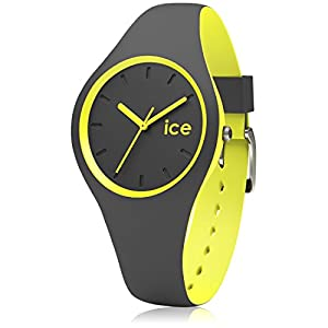 Ice-Watch – Ice Duo Anthracite Yellow – Graue Jungenuhr mit Silikonarmband – 001486 (Small)