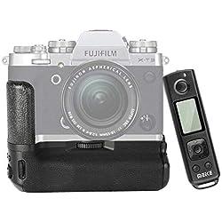 Meike MK-XT3 Pro Poignée d'alimentation Verticale avec télécommande intégrée 2,4 GHz pour Appareil Photo Fujifilm Fuji X-T3 XT3