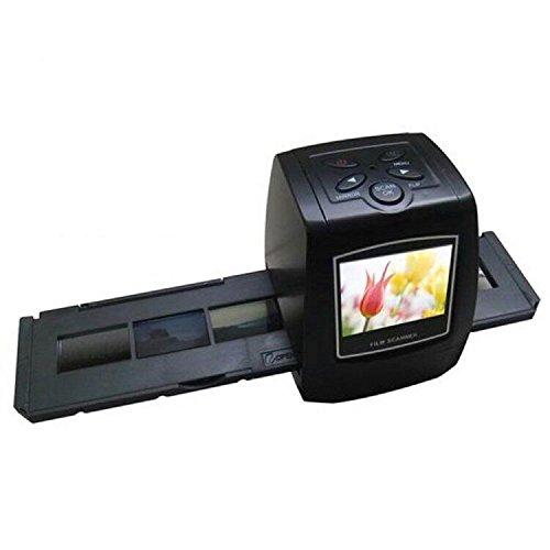 Film and imaging Scanner, elecfan®5MP 35mm Film Scanner Hohe Auflösung Konverter negativen und von Dias USB Digitaler Farbfotokopierer Mit 32G SD Karte (Mit 32G SD Karte, Schwarz)