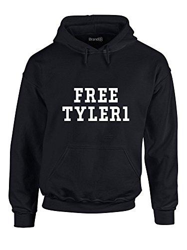 Free Tyler1, Hoodie Imprimé - Noir/Blanc M = 96-101 cm