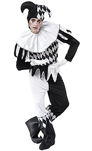 Harlequin Male costume Adult Fancy Dress (Kopfloser Mann Halloween-kostüme)