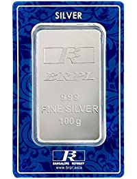 Bangalore Refinery 999 Purity Silver Bar 100 Gram