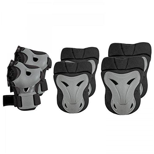 SPOKEY® BRAWL Protektorenset Inliner Rollschuh (Schoner Ellbogen Knie Handgelenke), Brawl Größen:S / 89511;Brawl Farben:schwarz/weiss