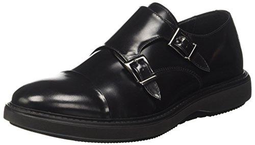 Docksteps - Zapatillas para hombre Schwarz/bordeauxrot DFyb9mzeQ