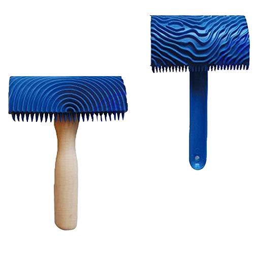 Bmyuk 2x grano di legno modello strumento di pittura pittura murale strumento diy scumble effetto smalto per decorazioni per la casa pittura murale decorazione strumento diy